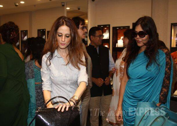 Sussanne Roshan at sister Farah's jewellery launch