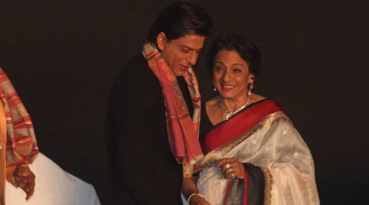 Veteran Bollywood actress Tanuja was admitted to a private hospital here after she complained of breathing trouble. (Source: Express Photo by Partha Paul)