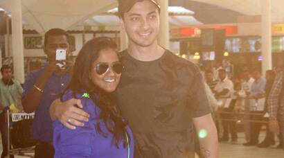 Newlyweds Arpita Khan, Aayush Sharma return to Mumbai