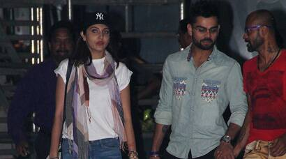 Spotted again: Virat Kohli and Anushka Sharma at the airport