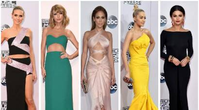 Jennifer Lopez, Selena, Heidi Klum, Taylor Swift at AMAs 2014