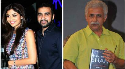 Shilpa Shetty-Raj Kundra enjoy a night out, Naseeruddin Shah launches his memoir