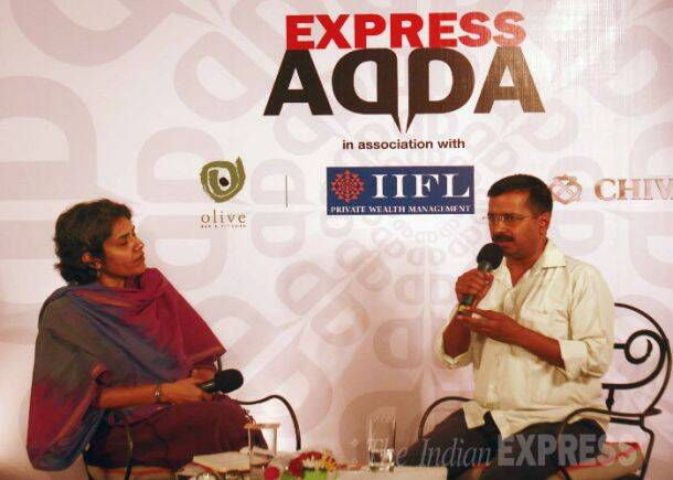 Exclusive:  Arvind Kejriwal at Express Adda