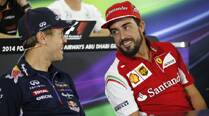 Sebastian Vettel enters stable, drives Fernando Alonso out