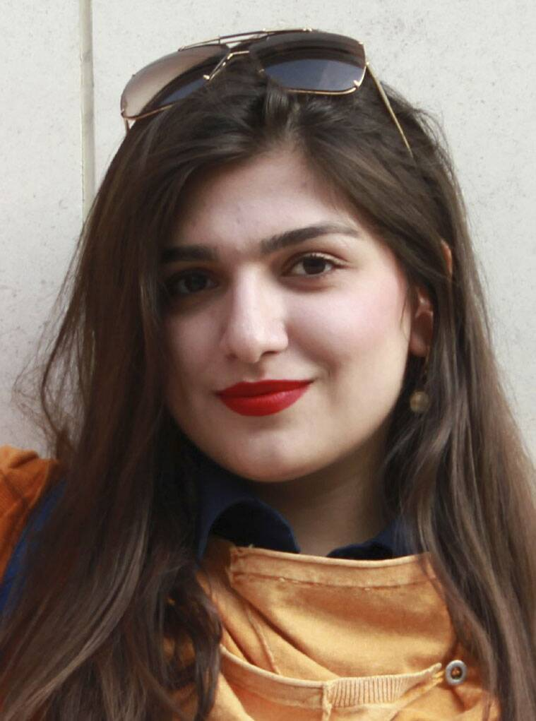 Undated photo made available Sunday Nov. 23, 2014, showing Iranian-British woman Ghoncheh Ghavami, who was jailed for attending a men's volleyball game in Iran, has been released on bail, according to reports from her family, on Sunday Nov. 23, 2014. Law graduate Ghavami was detained for attending a men's volleyball match on June 20, 2014, and held in solitary confinement. (Source: AP)
