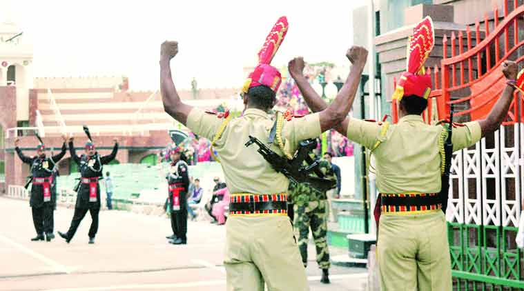 The Parade these days is extra special, say the BSF men. They want to underline the Nov 2 attack has not cowed them.(Source: Express photo by Rana Simranjit Singh)