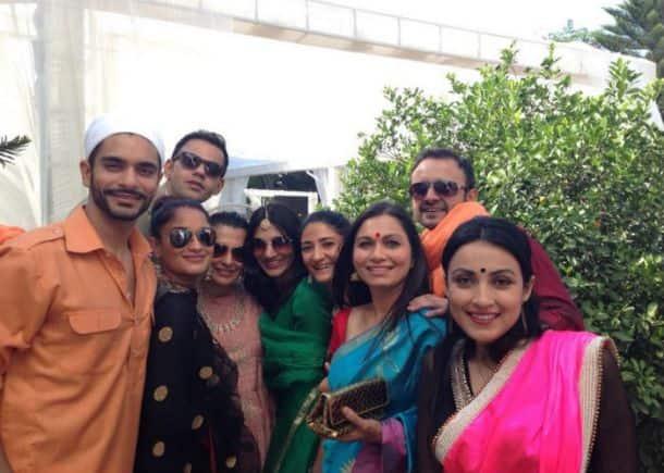 Neha Dhupia, Yuvraj Singh at Gauav Kapur - Kirat Bhattal wedding