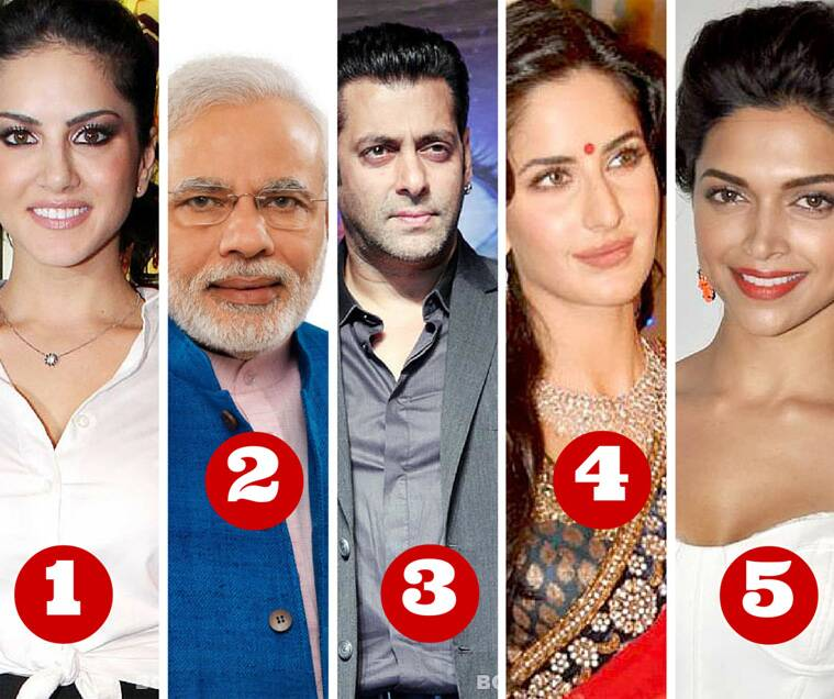 Sunny Leonne, Narendra Modi, Google, Sunny Leone Most searched person on Google