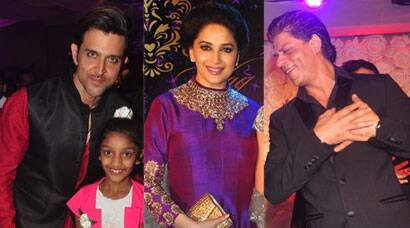 Shah Rukh Khan, Madhuri, Hrithik shine at a sangeet ceremony