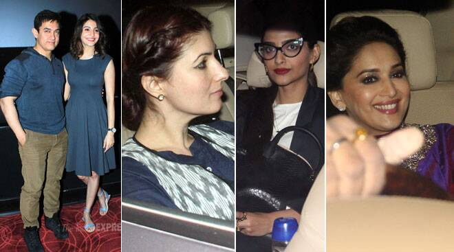 'PK' with Aamir Khan, Anushka Sharma: Sonam, Twinkle, Madhuri at special screening