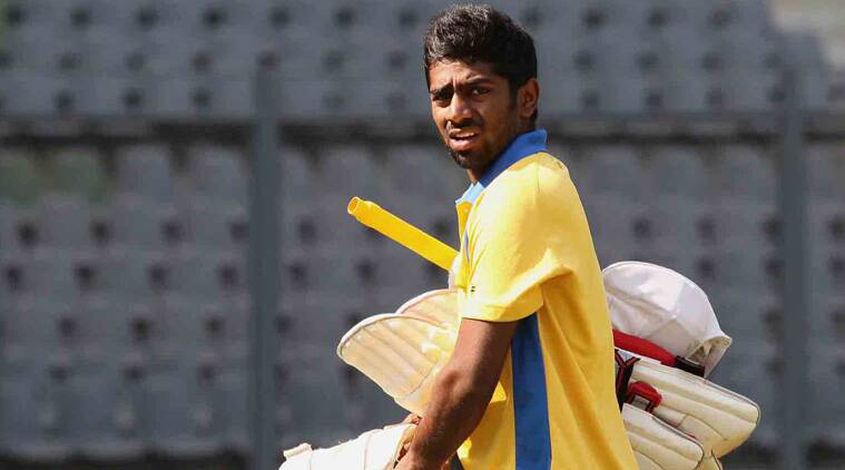 Abhinav Mukund finally finished on 137 and stitched a second-wicket 124-run partnership with Baba Aparajith (73). (Source: Express File)