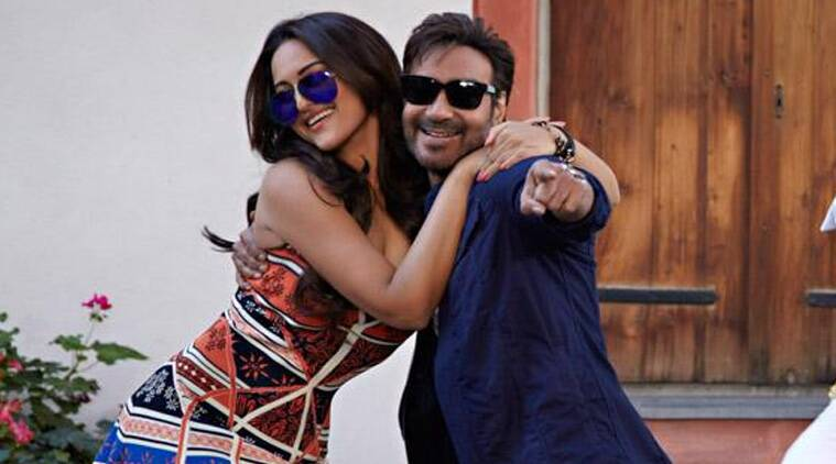 Ajay Devgn appears in a double role, the good-hearted gali ka goonda Vishy, and his look-alike, the sword-wielder AJ.