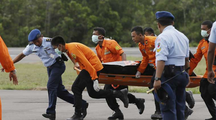 The Airbus A320 crashed into the Java Sea on Sunday with 162 people on board. Sixteen bodies have been recovered so far. (Source: AP)