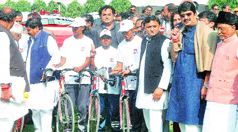 Chief Minister Akhilesh Yadav in Lucknow on Saturday. (Source: Express photo by Vishal Srivastav)