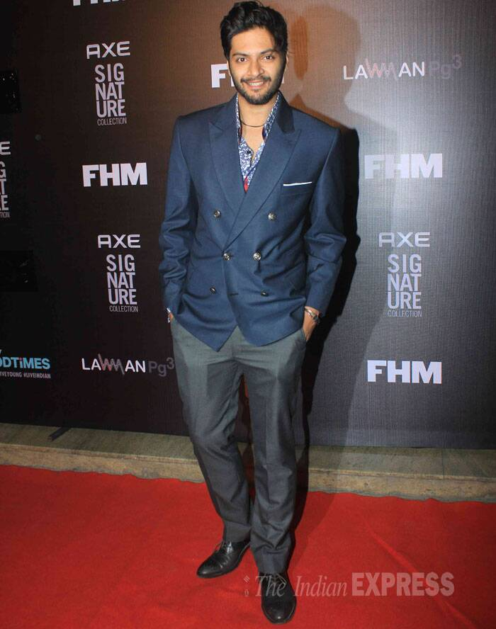 Fukrey' actor Ali Fazal smiles widely on the red carpet. (Source: Varinder Chawla)