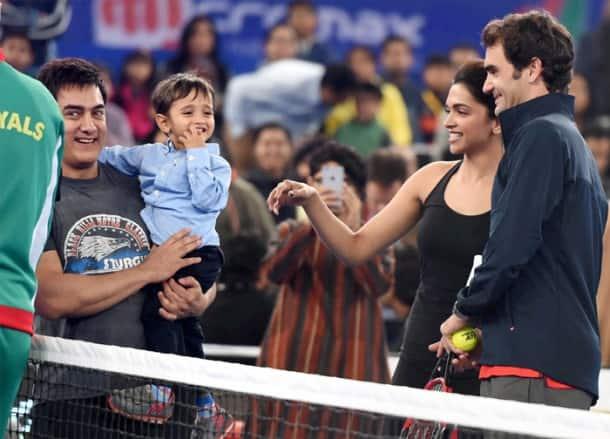 Aamir Khan, Deepika Padukone, Akshay Kumar try their hand at tennis on a star-studded evening in IPTL