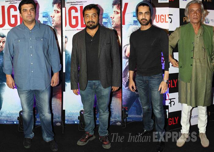 Ugly director Anurag Kashyap with UTV head Siddharht Roy Kapur, acto Arjan Bajwa and director Sudhir Mishra. (Source: Varinder Chawla)