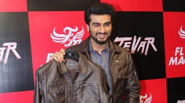 Arjun was here Tuesday to launch the 'Tevar Jacket', which has been launched under denim brand Flying Machine