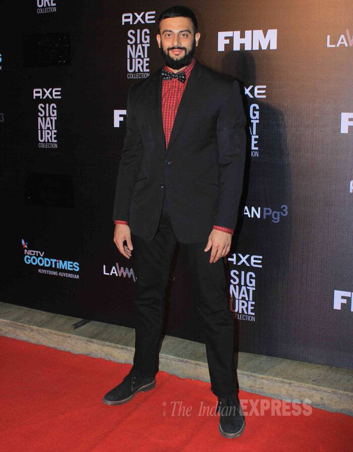 Actor Arunoday Singh, who was last seen in Pizza', showed off an impressive beard. (Source: Varinder Chawla)