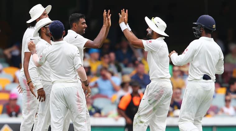 Ashwin celebrates the wicket of Shane Watson. (Source: AP)