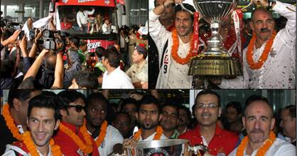 Atletico celebrate maiden ISL title win with fans in Kolkata