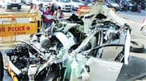 Businessman killed, his Audi mangled in late-nightcrash