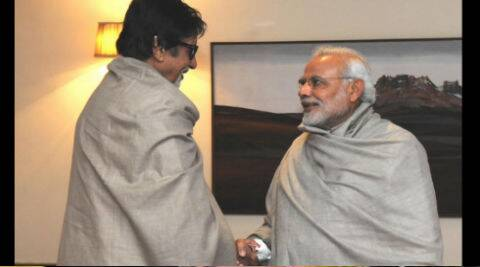 Amitabh Bachchan meets PM Narendra Modi in capital