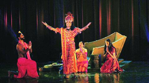 Depicting an episode from Mahabharata, 'Chakravyuh' touched upon themes of women empowerment and jealousy. (Source: Express photo by Anil Sharma)