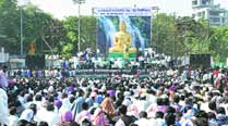 All peaceful at Chaitya Bhoomi barring minor clashes, protests