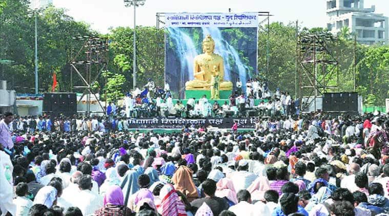 At Chaitya Bhoomi on Saturday