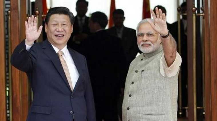 Prime Minister Narendra Modi (R) with China's President Xi Jinping. (Source: Reuters)
