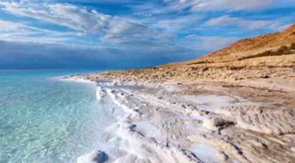 The Dead Sea is one of the saltiest water bodies in the world. (Source: Thinkstock Images)