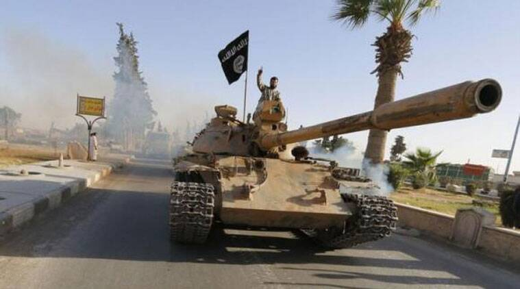 The Islamic State group began a major offensive on the air base, one of the last government-held areas in the province of Deir el-Zour, on Thursday. (Source: Reuters photo)