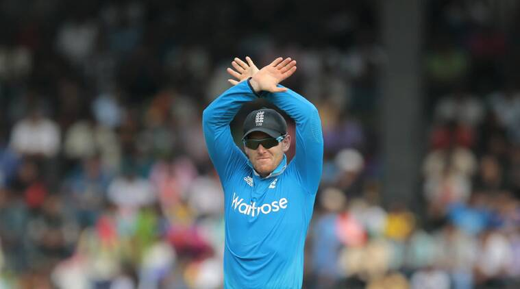 Eoin Morgan has an impressive record in the eight one-day matches in which he has captained England (Source: AP)