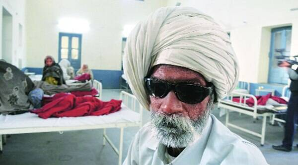 One of the victims, in an Amritsar hospital on Friday.(RANA SIMRANJIT SINGH)