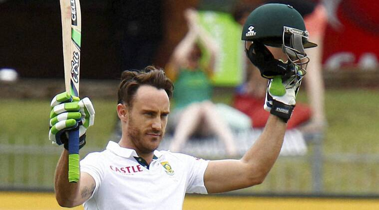 Faf du Plessis took 229 balls to complete his hundred against West Indies. (Source: AP)