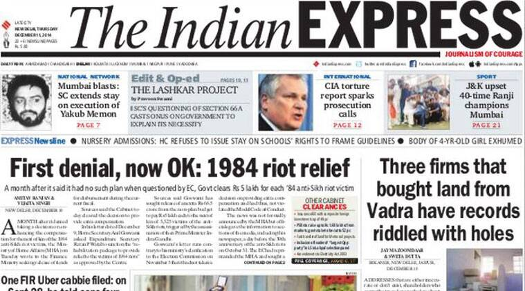 We recommend that you go through Thursday's top five stories of The Indian Express.