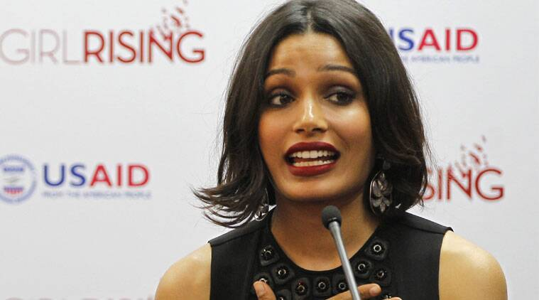 Freida Pinto says that presence of strong female characters is the first thing that she considers while choosing films. (Source: AP)