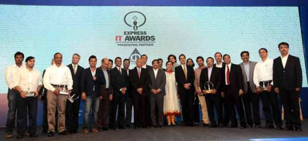 Winners of the Express IT Awards in Bengluru on Dec  5th 2014. (Source: Express photo by Ravi Kanojia)