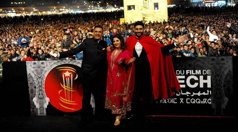 'Happy New Year' screened at the 14th Marrakech International Film Festival in presence of Farah, Abhishek and Boman Irani. (Source: Varinder Chawla)