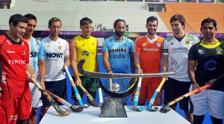 Captains of the eight teams participating in the Champions Trophy pose for a photograph. (Source: PTI)