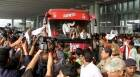 Atletico de Kolkata team received with fervour in the 'City of Joy'