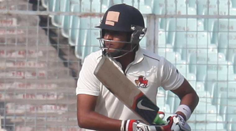 Iyer's free-flowing innings finally came to an end after he edged Ashok Dinda behind the stumps, just three overs before bad light stopped play. (Source: IE Photo by Partha Paul)