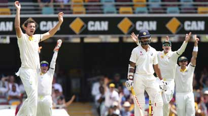 India collapse at the Gabba