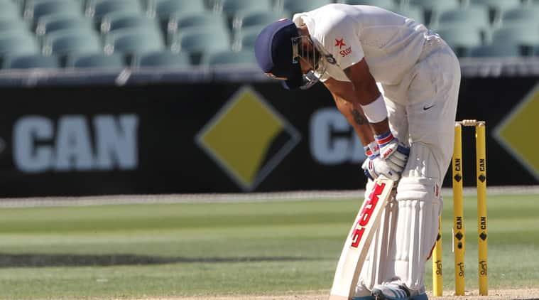 Virat Kohli was out after scoring a brilliant 141. (Source: AP)