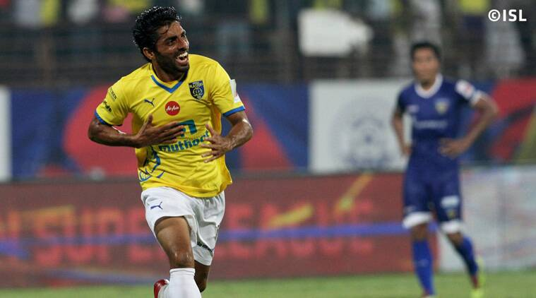 Sushanth Mathew scored a stunner and probably the goal of the League in the 94th minute. (Source: ISL)