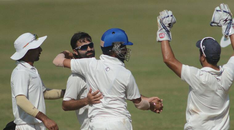 On opening day of Ranji campaign, Jammu and Kashmir bundle out 40-time champions for 236. (Source: Express Photo by Kevin D'Souza)