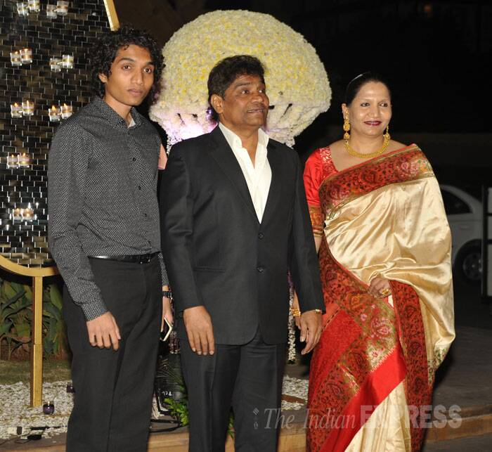 Legendary comic actor Johnny Lever was also seen at same event with his wife Sujatha Lever and adolescent son Jessey Lever. (Source: Varinder Chawla)