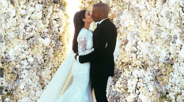 The picture of Kim Kardashian and Kanye West on their wedding day has received a huge 2.4 million, reported Daily Mirror.(Source: Reuters)