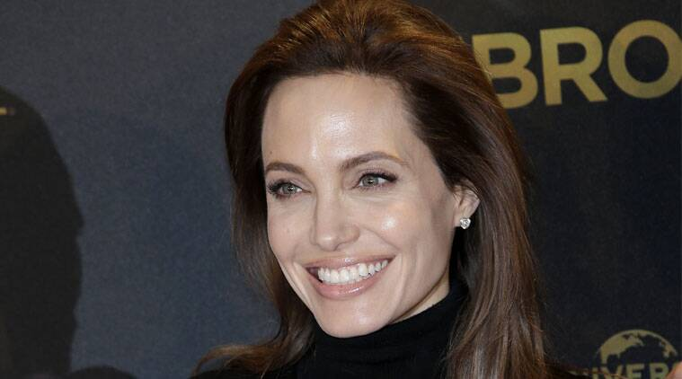 Angelina Jolie is thrilled that her new movie 'Unbroken' is getting Oscar buzz. (Source: AP)
